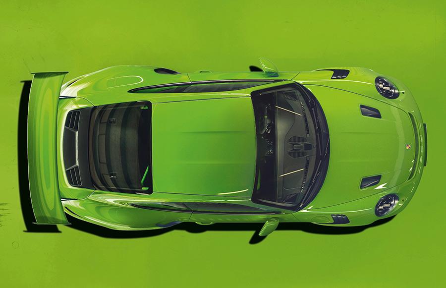 Lizard Green Porsche 911 GT3 RS