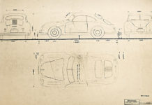 Porsche Technical Drawing Collection