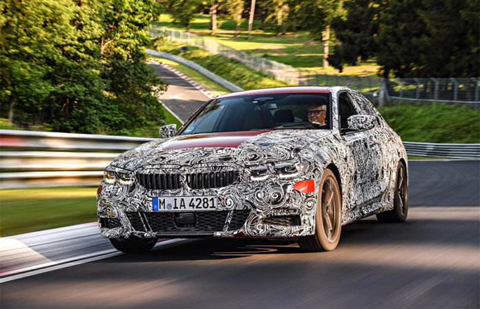 BMW 3 Series Sedan Tests at the Green Hell