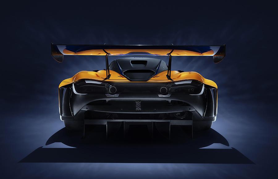 McLaren 720S GT3 Race Car Track Testing