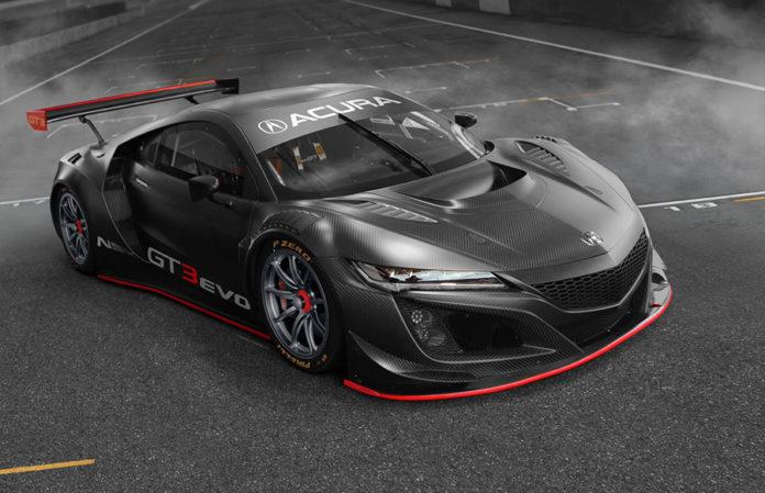 Acura NSX GT3 Evo Race Car