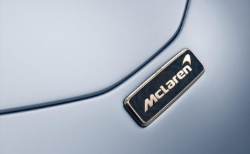 McLaren Speedtail 18 Carat White Gold Badging