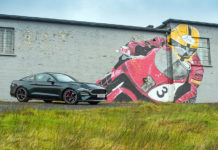 Ford Mustang Bullitt Isle of Man TT Motorcycle Course