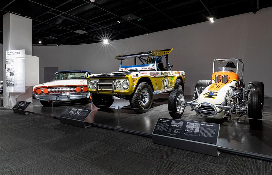 Legends of Motorsports Exhibit Petersen Museum