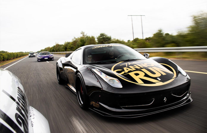 Cannon Run Liberty Walk Ferrari 458 The Dark Knight