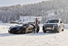 Hermann Maier Drifts the Bugatti Chiron