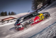 Mattias Ekström Audi e-tron Kitzbühel's Streif Downhill Course