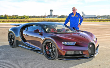 NASA Astronaut Jon McBride Bugatti Chiron Kennedy Space Center