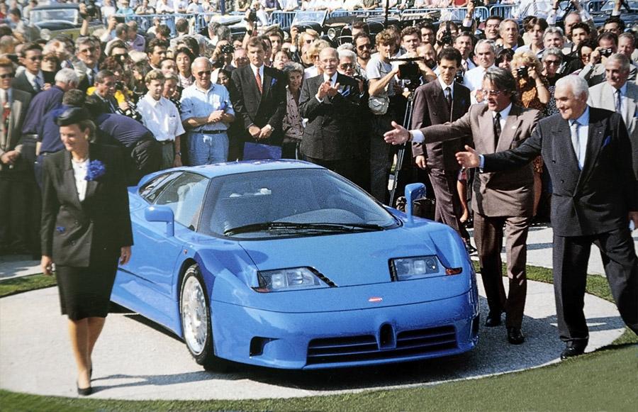 Romano Artioli visits Bugatti in Molsheim