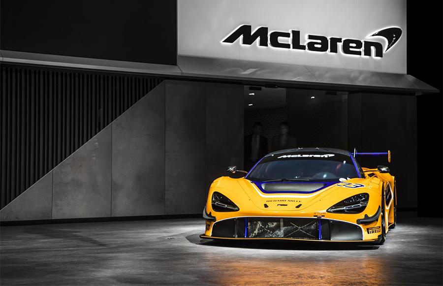 Mclaren 720s Gt3 Chassis 001 Car Draws Crowds At Geneva International Motor Show