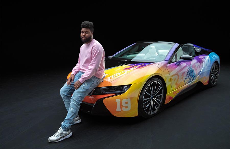 Khalid Coachella BMW i8 Roadster
