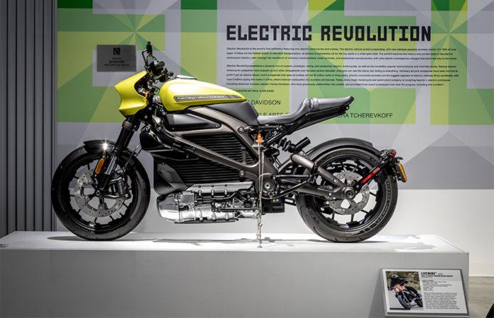 Petersen Automotive Museum Electric Motorcycle Exhibit