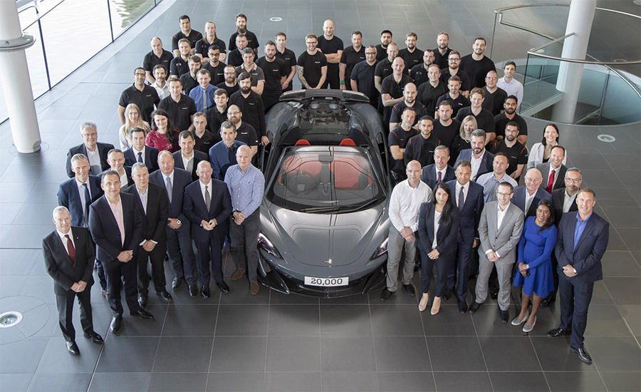 McLaren Automotive Celebrates Building 20,000th Car