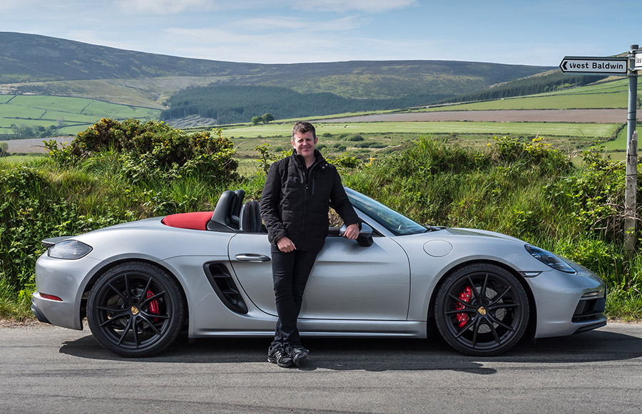 Mark Higgins Isle of Man TT Course Porsche 718 Boxster GTS 12
