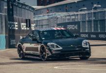 Porsche Taycan at new York Formula E