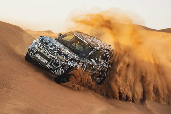 Land Rover Defender Desert Testing