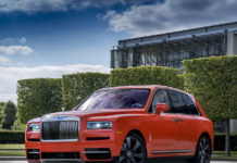 Michael Fux Orange Rolls-Royce Cullinan
