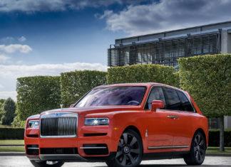 Michael Fux Orange Rolls-Royce Cullinan