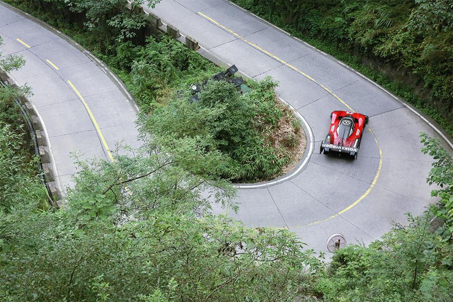 Volkswagen ID.R Record on Tianmen Mountain