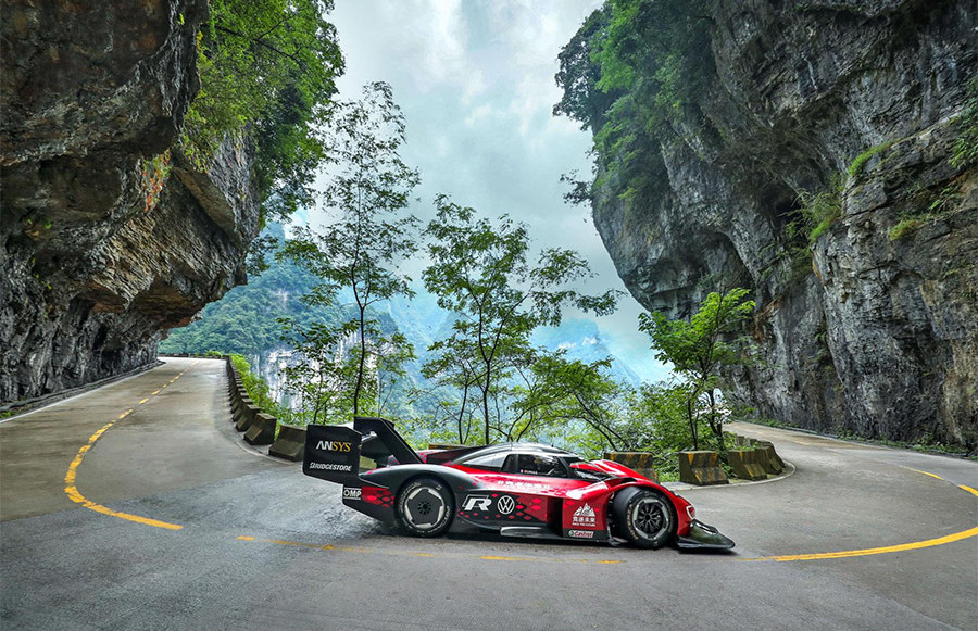 Volkswagen ID.R Record on Tianmen Mountain