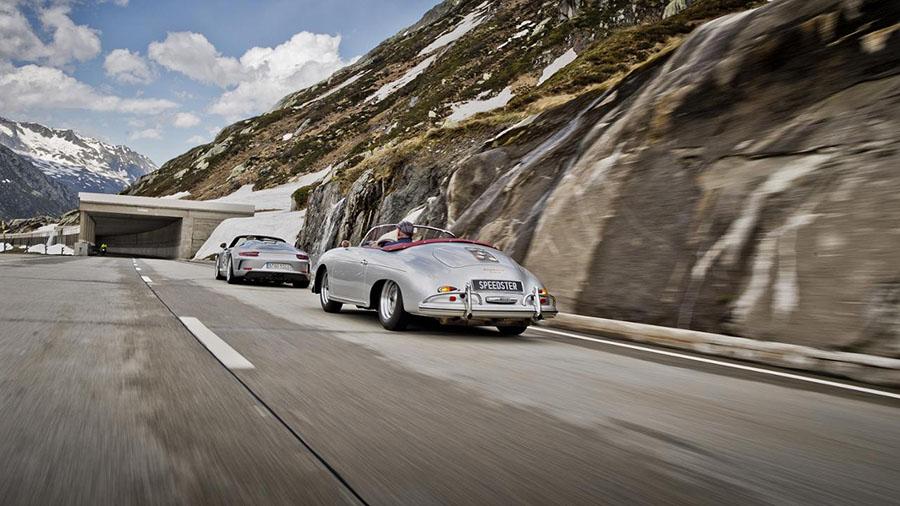 Gotthard Pass Porsche Speedster