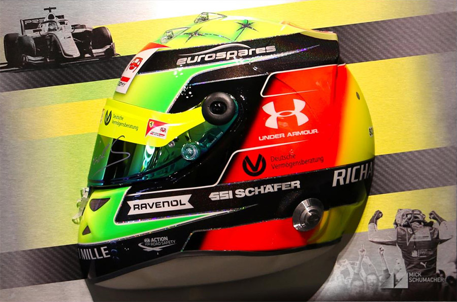 Mick Schumacher Commemorates F2 Rookie Season With Unique Helmet Artwork