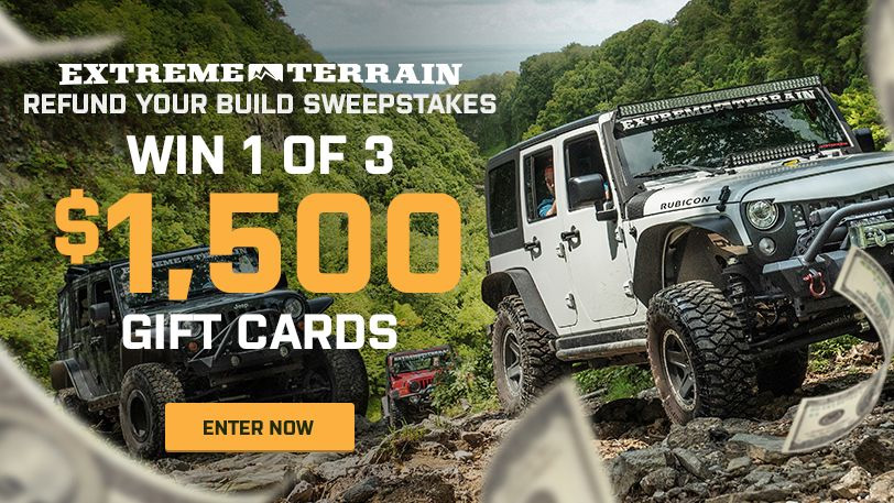 Extreme Terrain Refund Your Build Sweepstakes