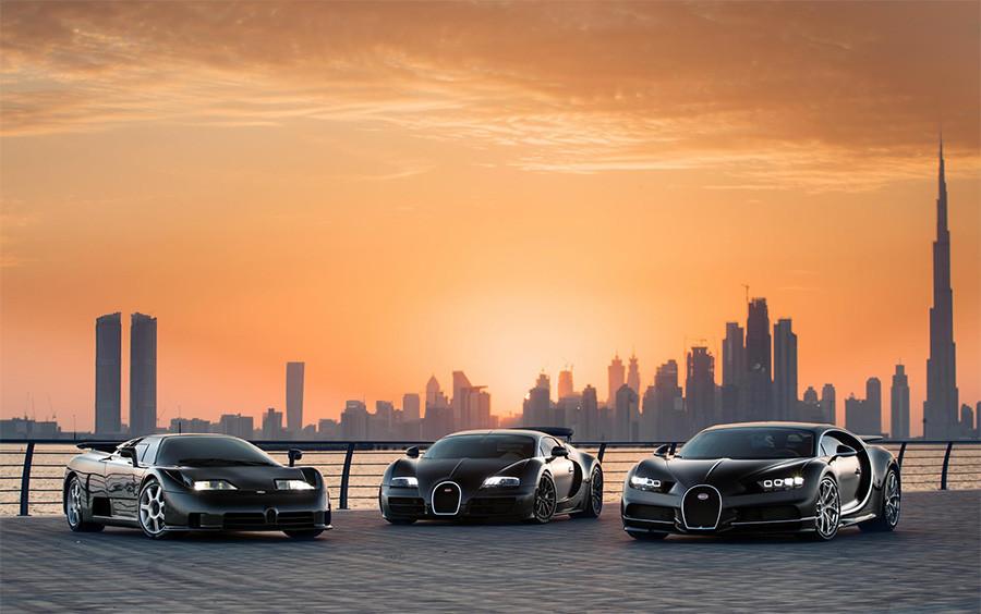 Bugatti EB110 Chiron Veyron Trinity