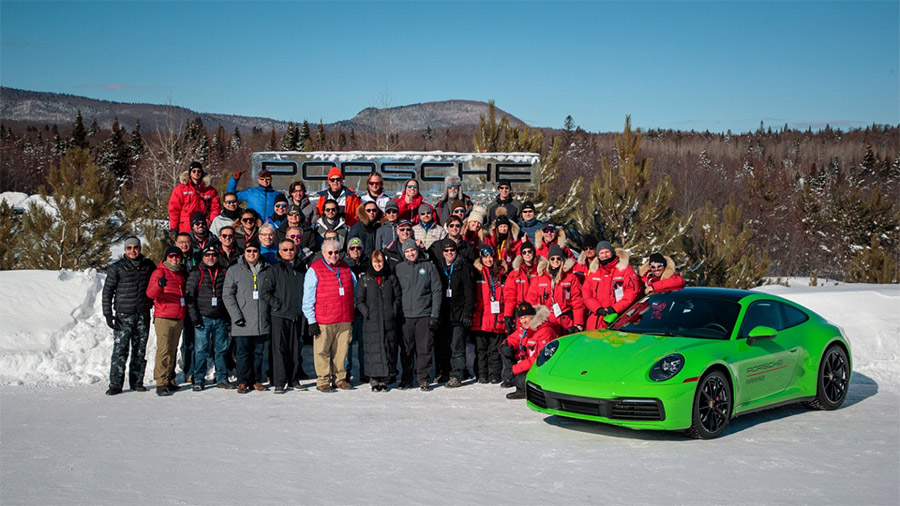 Porsches On Ice