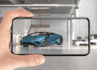 Lamborghini Huracán EVO Rear-Wheel Drive Spyder Augmented Reality Launch