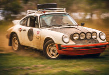 Jim Goodlett Porsche 911 SC Rally car