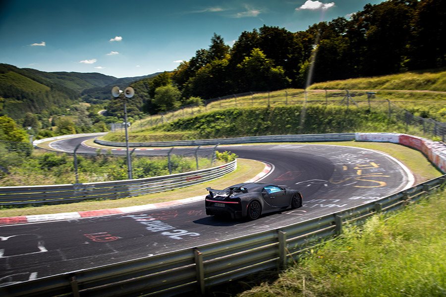 Chiron Pur Sport – final handling tests on the Nordschleife