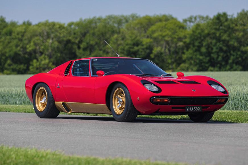 Lamborghini Miura SV Silverstone Classic Live Online Auction