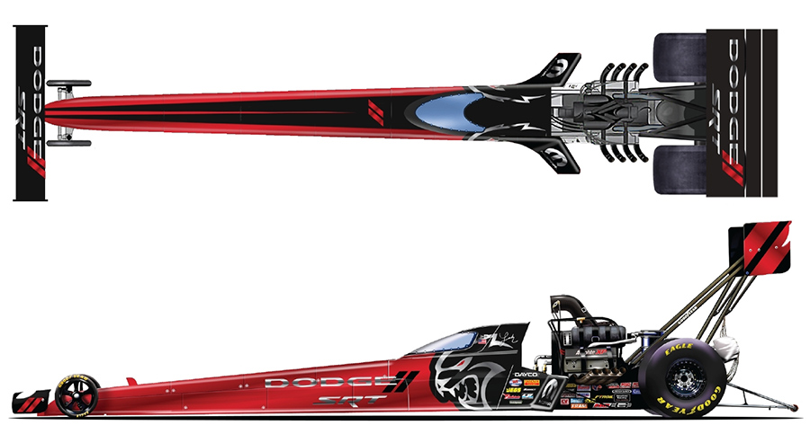 Mopar Dodge SRT Hellcat Redeye Paint Schemes NHRA Summernationals