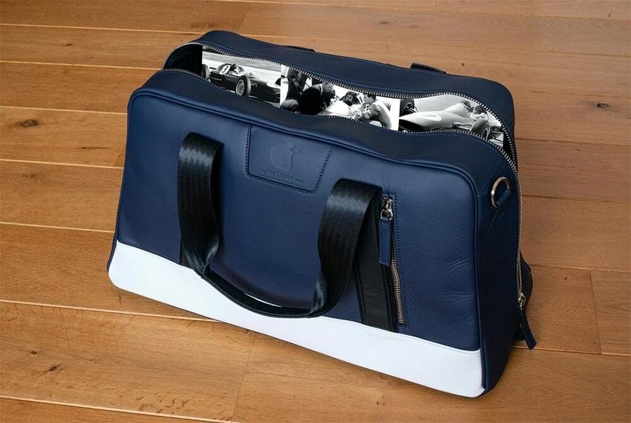 Jordan Bespoke Jim Clark Leather Art Duffle Bag