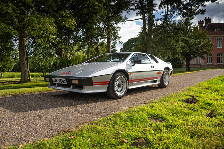 Lotus Certificate of Provenance Colin Chapman's Turbo Esprit