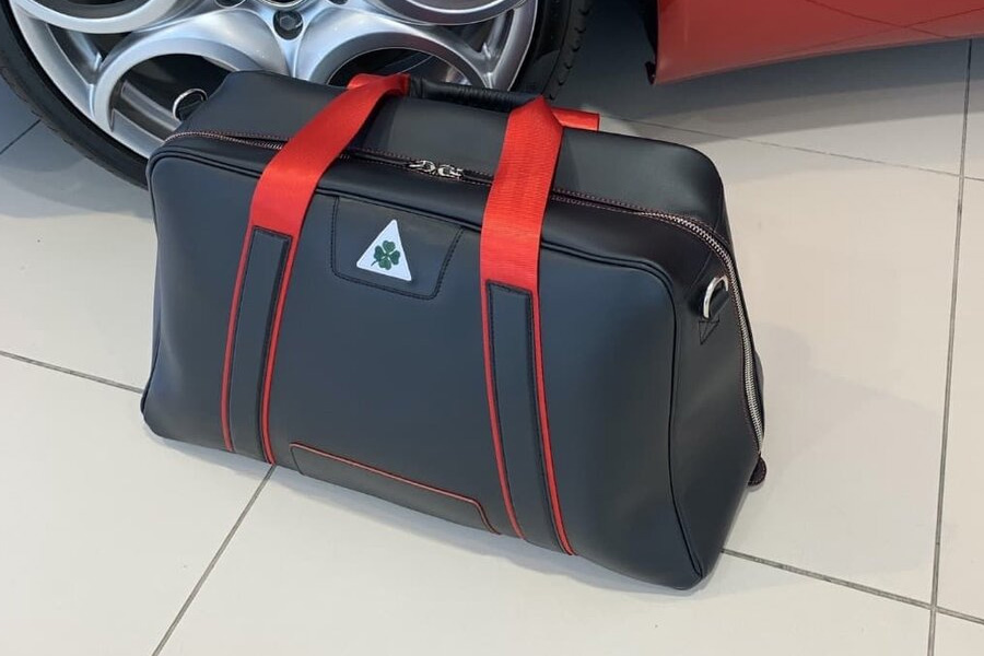 Jordan Bespoke Racing Red AR 'Leather Art' Duffle Bag