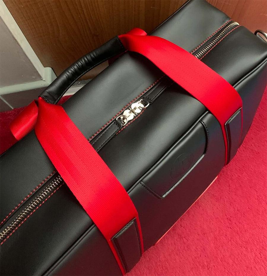 Jordan Bespoke Racing Red AR 'Leather Art' Duffle Bag