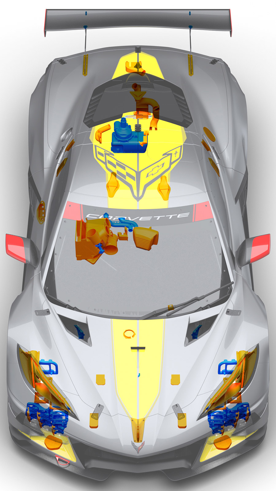 Chevrolet Racing 3D Printed Parts