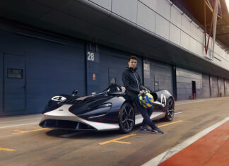 Driver Lando Norris Tests the McLaren Elva