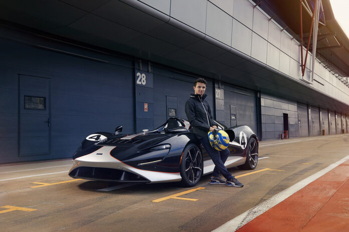 Driver Lando Norris Tests the McLaren Elva