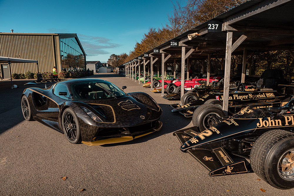 Lotus Evija Black and Gold Livery Goodwood Debut