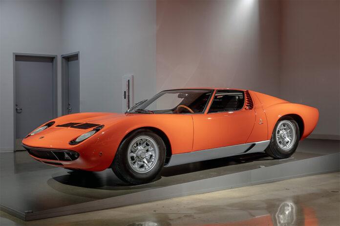 Iconic Lamborghini Petersen Automotive Museum Exhibit