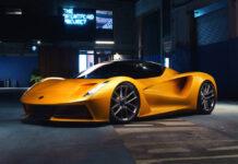 Lotus celebrates as the Evija wins at the 2020 MUSE Global Design Awards