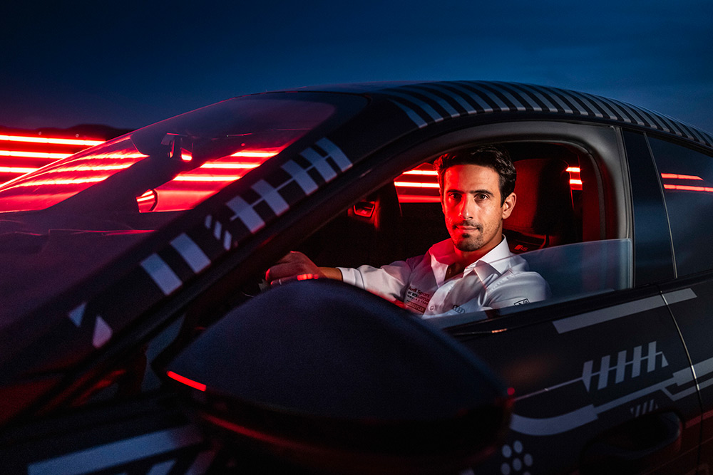 Formula E driver Lucas di Grassi Tests Audi RS e-tron GT