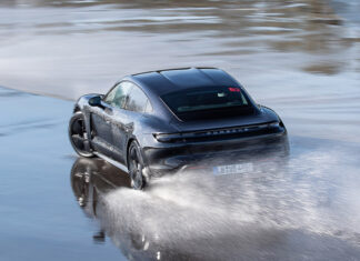Porsche Taycan Drifts Guinness World Records Book at Hockenheimring