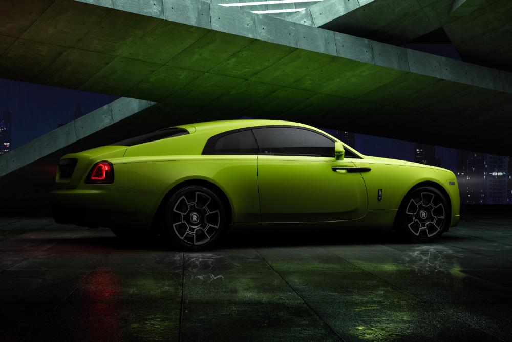 Rolls-Royce Neon Nights Dawn, Wraith and Cullinan Black Badge