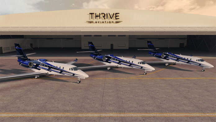 Textron Aviation and Thrive Aviation Cessna Citation Sovereign+ business jets