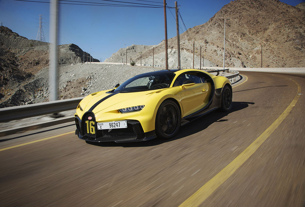 Andy Wallace Bugatti Chiron Pur Sport Hajar Mountains
