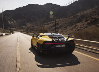 Andy Wallace Bugatti Chiron Pur Sport Hajar Mountains